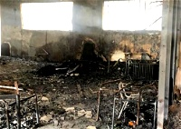 النقب: حرق روضتين في قرية أم بطين