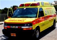 بئر يعقوب: اصابة رجل بجراح متوسطة جراء حادث طرق