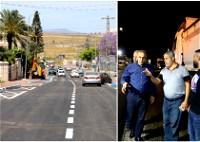 كفرقرع: تعبيد شارع صلاح الدين