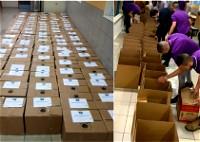 مشيرفة: المدرسة الثّانويّة الشّاملة توزّع 100 طرد غذائيّ