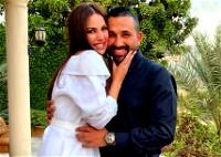 زوج درة التونسية يتغزل بها
