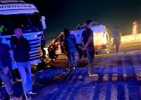 رهط: دورية شرطة تصطدم بشاحنة
