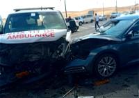 عرعرة النقب: اصابة بحادث طرق بين مركبة اسعاف وسيارة
