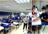 حملة للتبرع بالدم في مدرسة البشائر الأهلية بسخنين